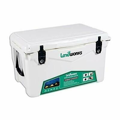 Landworks Rotomolded Enhanced Ice Cooler 45qt Up To 10 Day Ice Retention Comm In 2020 Ice Cooler Ice Chest Cooler Cooler