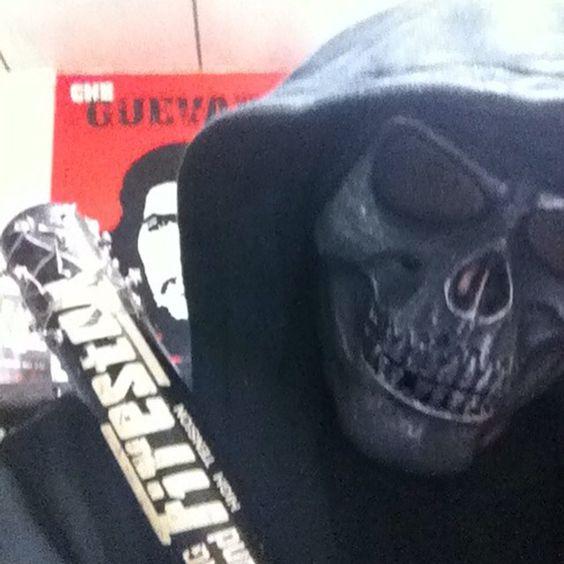 My mask,自分のマスク #mask #skull #bone #マスク#ドクロマスク #ドクロ #airsoftmask #mascara #calavera