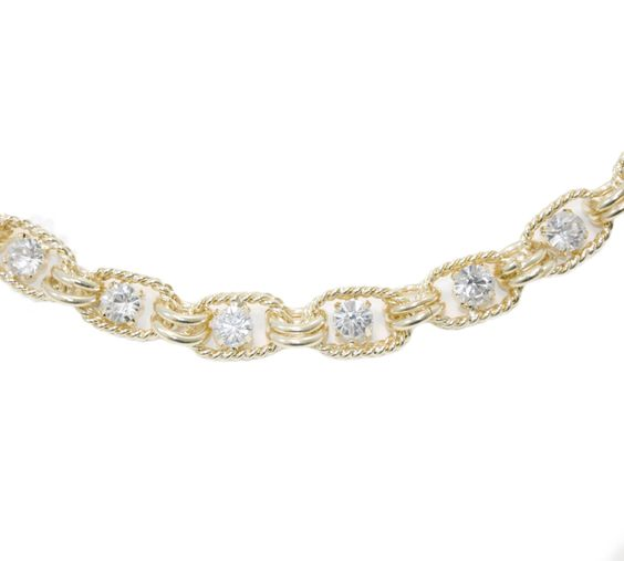 Send the Trend Crystal Dotted Chain