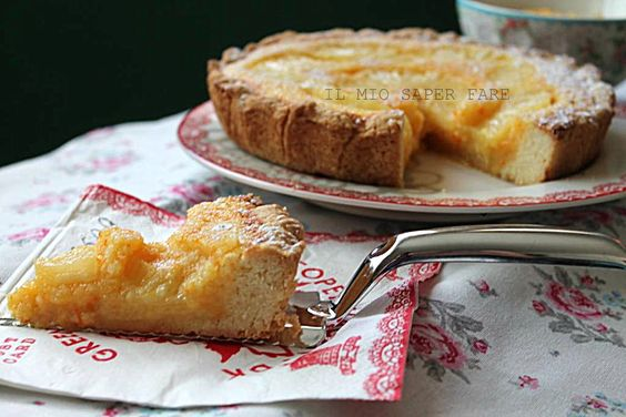 Dolce semplice all'arancia cocco e ananas