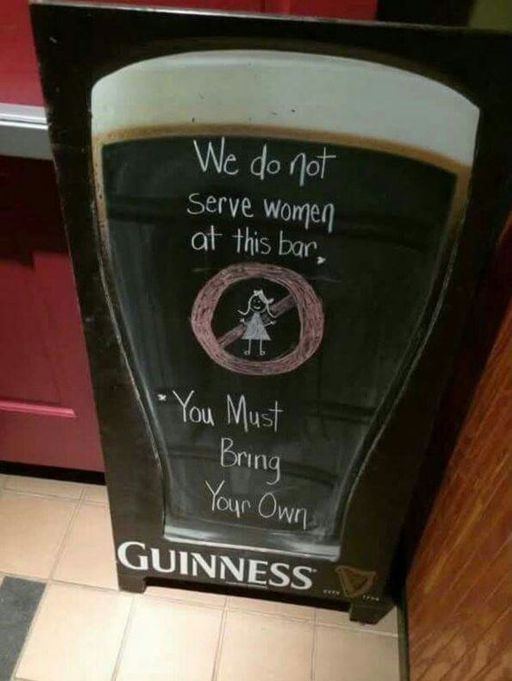 Friendly and creative bars signs