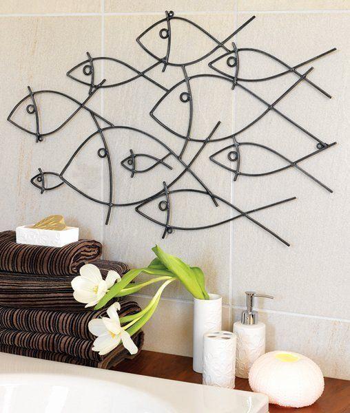 Fish Wall Decor For Bathroom Fresh Bathroom Wall Art Decorating Tips Inoutinterior Fish Wall Art Metal Fish Wall Art Metal Tree Wall Art