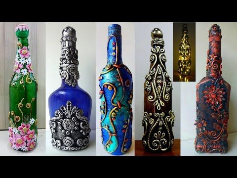 5 Bottle Decoration Ideas Hello Everyone In This Video We Will