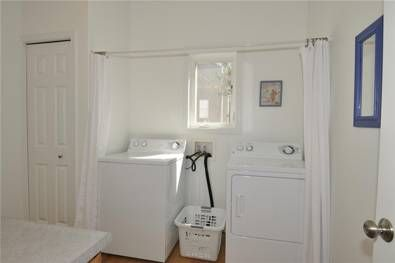 Curtain To Hide Washer And Dryer Get Organized