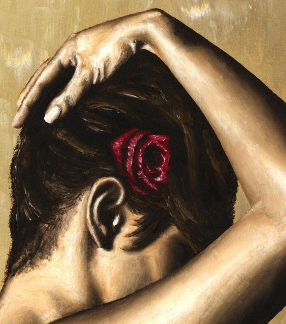 Image Detail for - Flamenco Woman fine art contemporary modern oil painting detail close ...