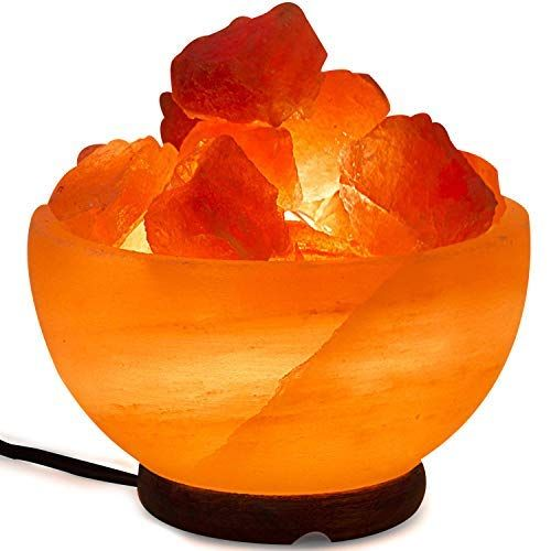 Amazon Com Himalayan Salt Lamp Bowl With Natural Crystal Chunks