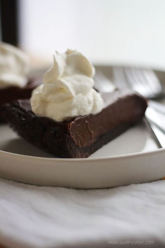 Double Chocolate Silk Cream Pie {a.k.a. the pie that got me married!}