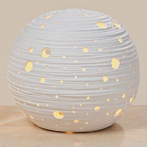 Dekolust - Lampe Kugel Globe Weiss