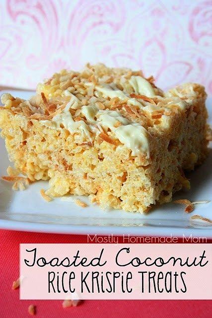 Toasted Coconut Rice Krispie Treats