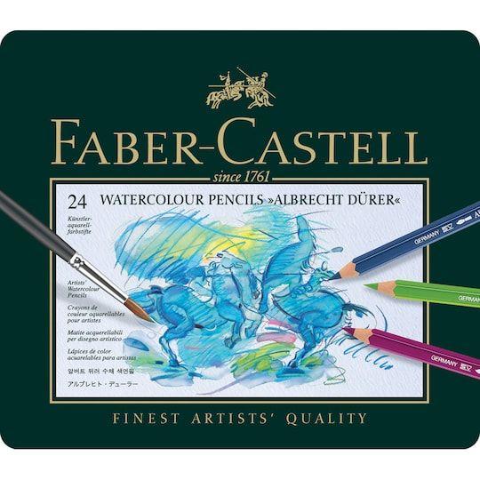 Faber Castell Albrecht Durer Watercolor Pencil Set 24 Pencil Tin