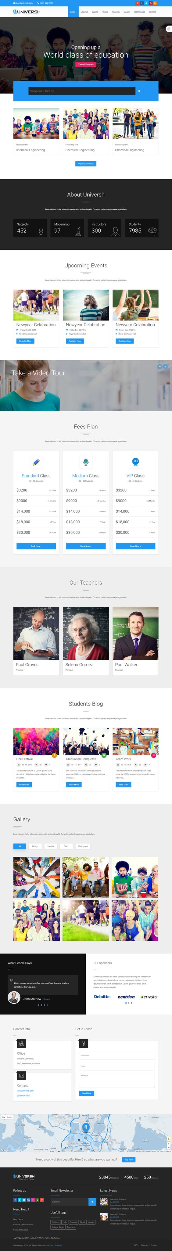 Universh - Material Education, Events, News, Learning Center & Kid #School Multipurpose Bootstrap HTML Template #onepage #webdesign