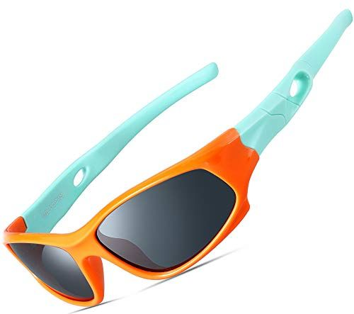 ATTCL Fashion Round Polarized Kids Sunglasses For Boys Girls Age 3-10 Child