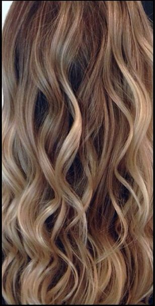 Golden blonde highlights add a beautiful touch to dirty ...