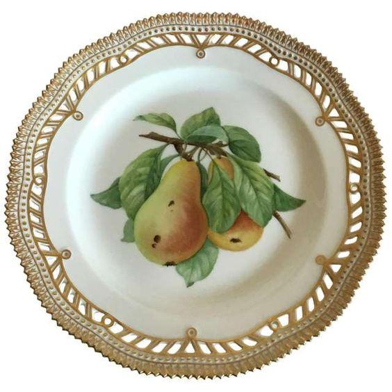 Royal Copenhagen Flora Danica Fruit Plate No 429/3554