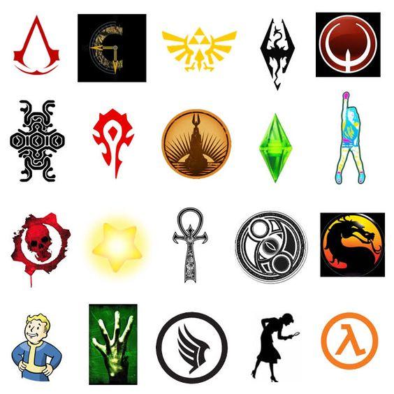 video game symbols and logos for semiotics in games design
