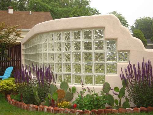 South Jersey Glass Block Installation And Design Outdoor Wall Glass Blocks Glass Blocks Wall Brick Garden