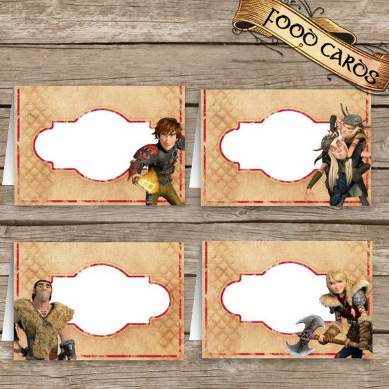How To Train Your Dragon 2 Birthday Food Cards Dragons 2