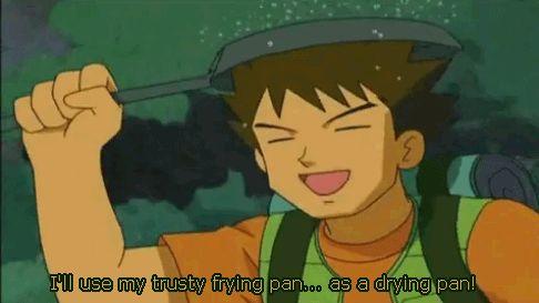 Its Only Raining On His Pan Brock Pokemon Pokemon
