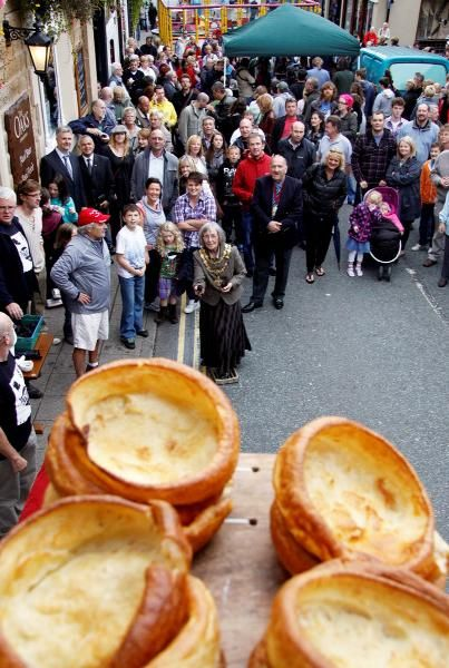 World black pudding throwing championships in Ramsbottom.