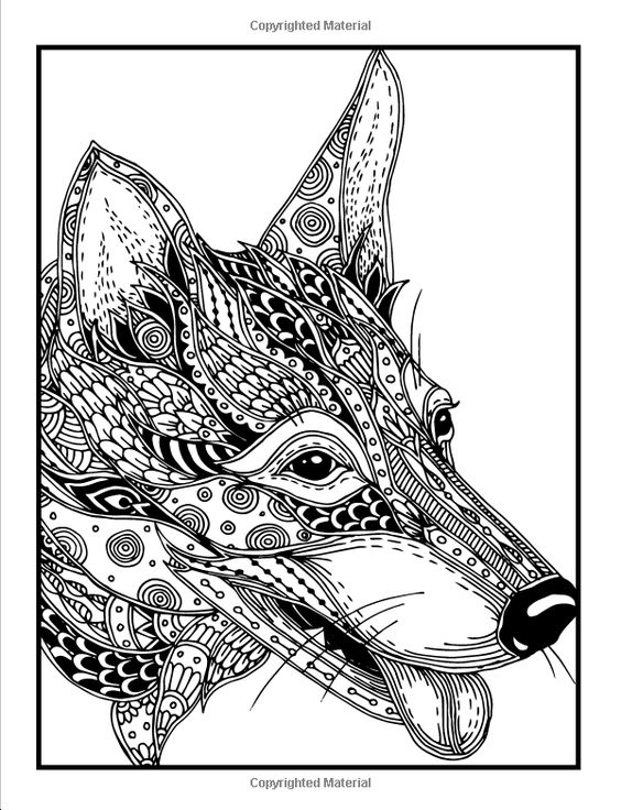 design coloring pages of animals - photo#38