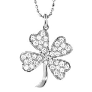 Jennifer Meyer Diamond Four Leaf Clover - White Gold