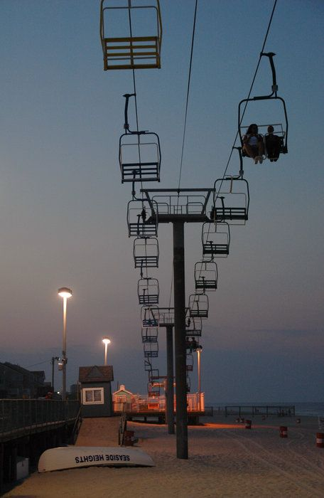 I want this here!   Sky Ride At Dusk by Stanley Kosinski (on the Jersey shore)