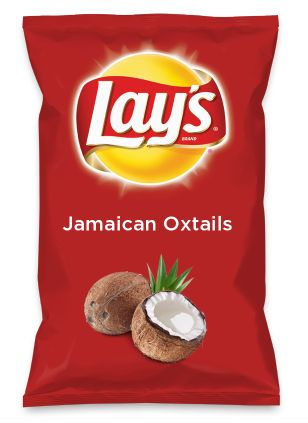Wouldn't Jamaican Oxtails be yummy as a chip? Lay's Do Us A Flavor is back, and the search is on for the yummiest flavor idea. Create a flavor, choose a chip and you could win $1 million! https://www.dousaflavor.com See Rules.