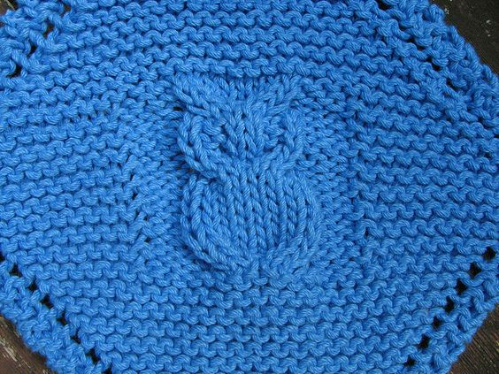 Knit Pattern For Owl Dishcloth : Ravelry: Diagonal Owl Dishcloth pattern by Janelle ...