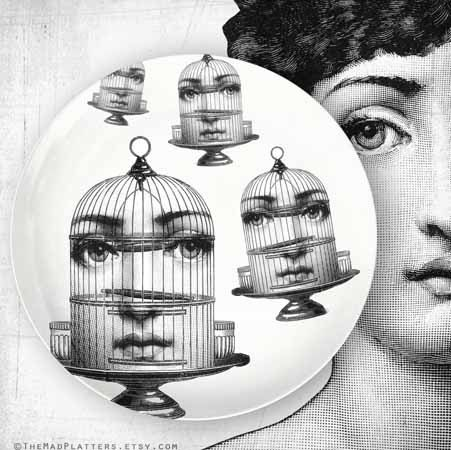 Birdcage original design with Cavalieri on vintage by FauxKiss