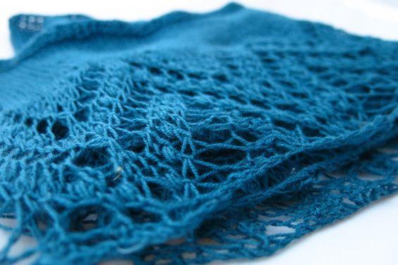Loch Katrine Shawl Knitting Pattern by Littletheorem on Etsy.
