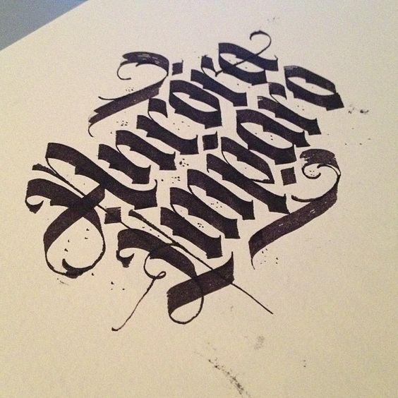 Ancora imparo quotes ink calligraphy lettering