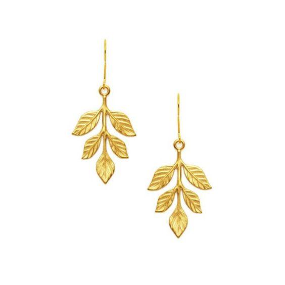 Laurier gold Earrings