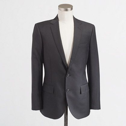 J.Crew+Factory+-+Factory+Thompson+suit+jacket+with+double+vent+in+black+wool