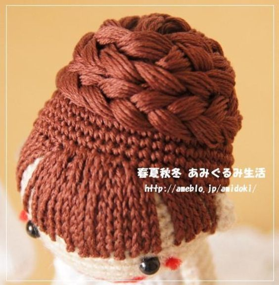 Crochet Hair Amigurumi : amigurumi #amigurumidoll #crochet #crochetdoll #crochetgarland #yarn ...