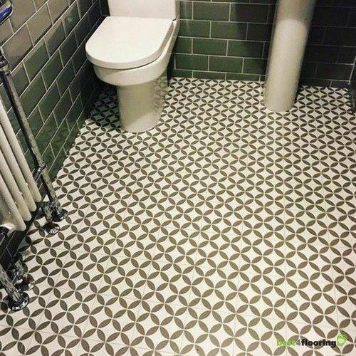 Alhambra Victorian Ceramic Tile Effect Cushioned Flooring