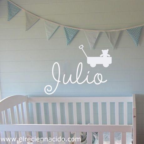 Vinilo personalizado para decorar la habitaci n del beb for Vinilos habitacion bebe nino