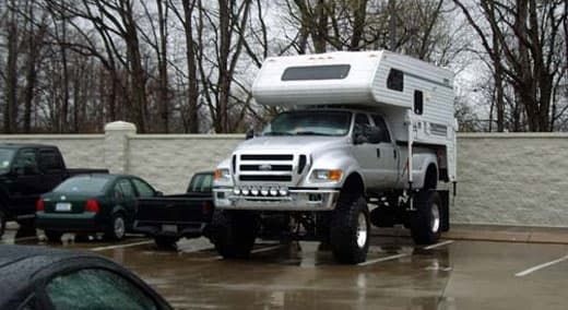 Can You Park Your Camper Like This Ford F650 Truck Camper Camper