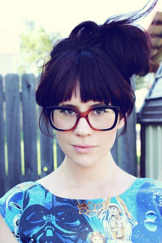 Glasses, Bangs