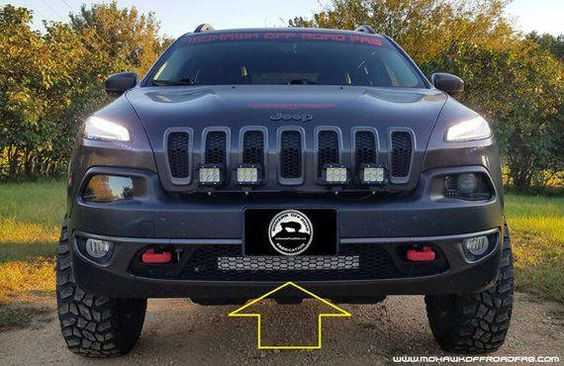 2014 2018 Jeep Cherokee Kl W O Driver Assist Lower Grill Mounted Pod Light Bracket This Bracket Is A No Drilling Needed Mount Brack Jeep Cherokee Accessories