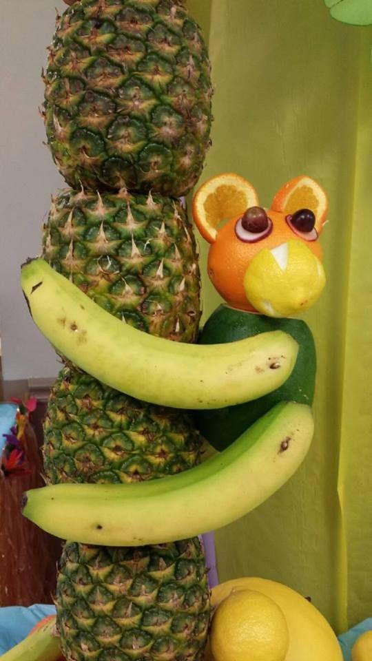 Fruit Monkey Climbing On Pineapple Tree For Luau Luau 400 x 300