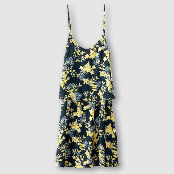 ✔ (merci la promo à -40%) Robe courte fines bretelles, imprimé fleuri by La Redoute parce que j'ai pas (beaucoup) de robes d'été