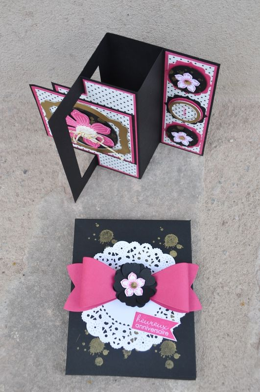 carte anniversaire sabine 2015 5 scrapbooking pinterest. Black Bedroom Furniture Sets. Home Design Ideas