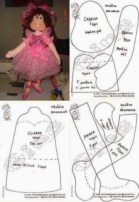 Mimin Dolls: bailarina rosa