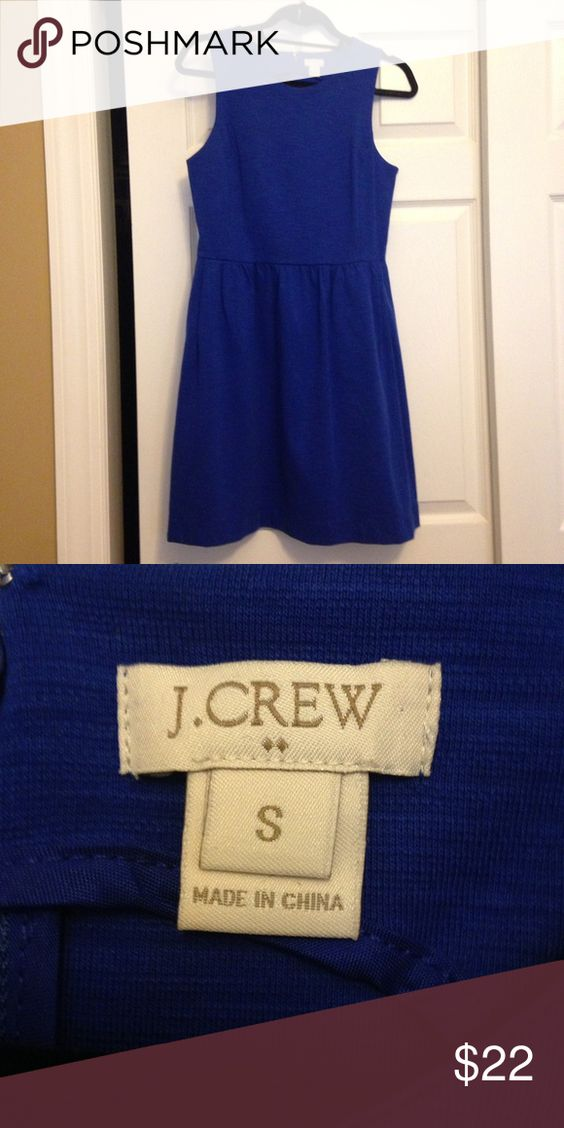 J Crew- Bright blue dress Bright blue dress from J. Crew. Only worn once! Smoke free and pet free home. J. Crew Dresses Midi