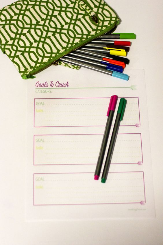 Planners, Fit and Goal setting worksheet on Pinterest - goal setting template