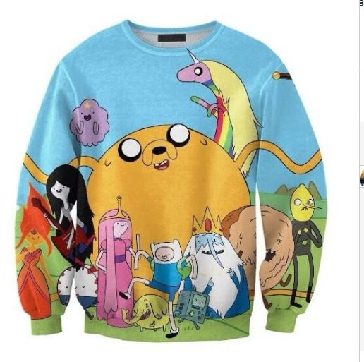 Find More Hoodies & Sweatshirts Information about Europe burst digital adventure time Turtleneck Sweater wholesale Sws0049,High Quality sweater apparel,China sweater knitwear Suppliers, Cheap sweater cute from Guangzhou vicky hair products co., LTD  on Aliexpress.com
