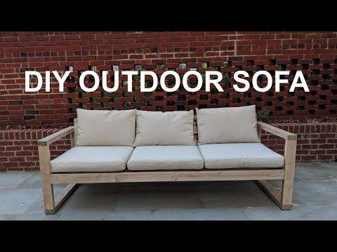 32 Diy Cheap Modern Outdoor Sofa Nathan Builds Youtube Modern Outdoor Sofas Outdoor Sofa Modern Outdoor