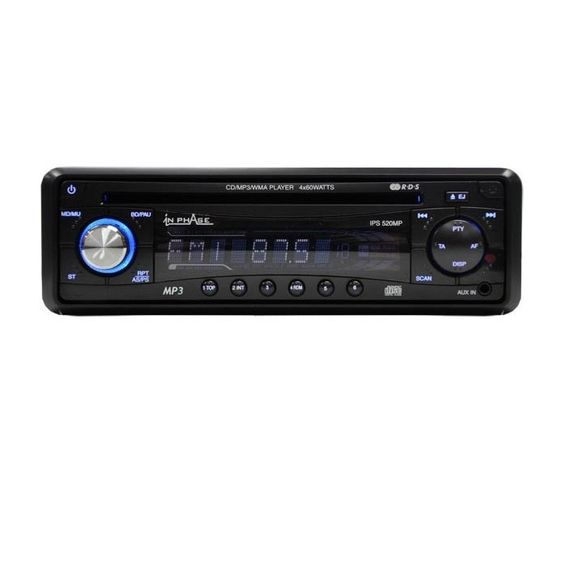 In Phase IPS520MP CD / MP3 Player, Front aux input - Car Audio Centre