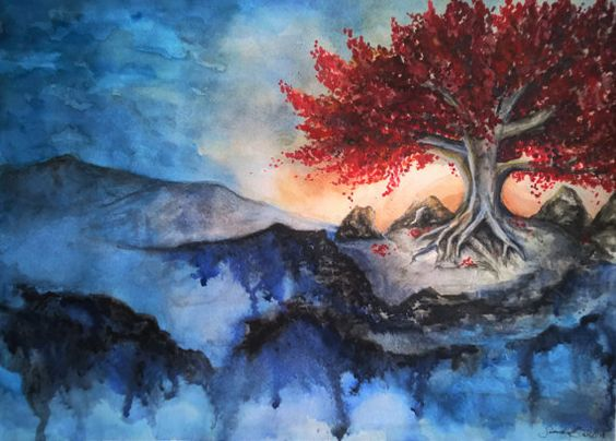 Weirwood Tree inspired by Game of Thrones  by Savsartsandcrafts on Etsy
