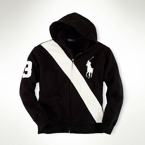 Ralph Lauren Women Black Big Pony Soft Hoody